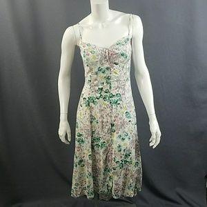 Lauren Conrad Button Front Dress SZ 10 Floral hilo